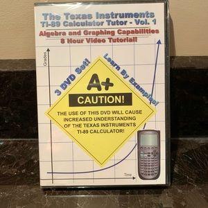 3 DVD SET-Texas Instrument TI-89 Calculator  Tutor